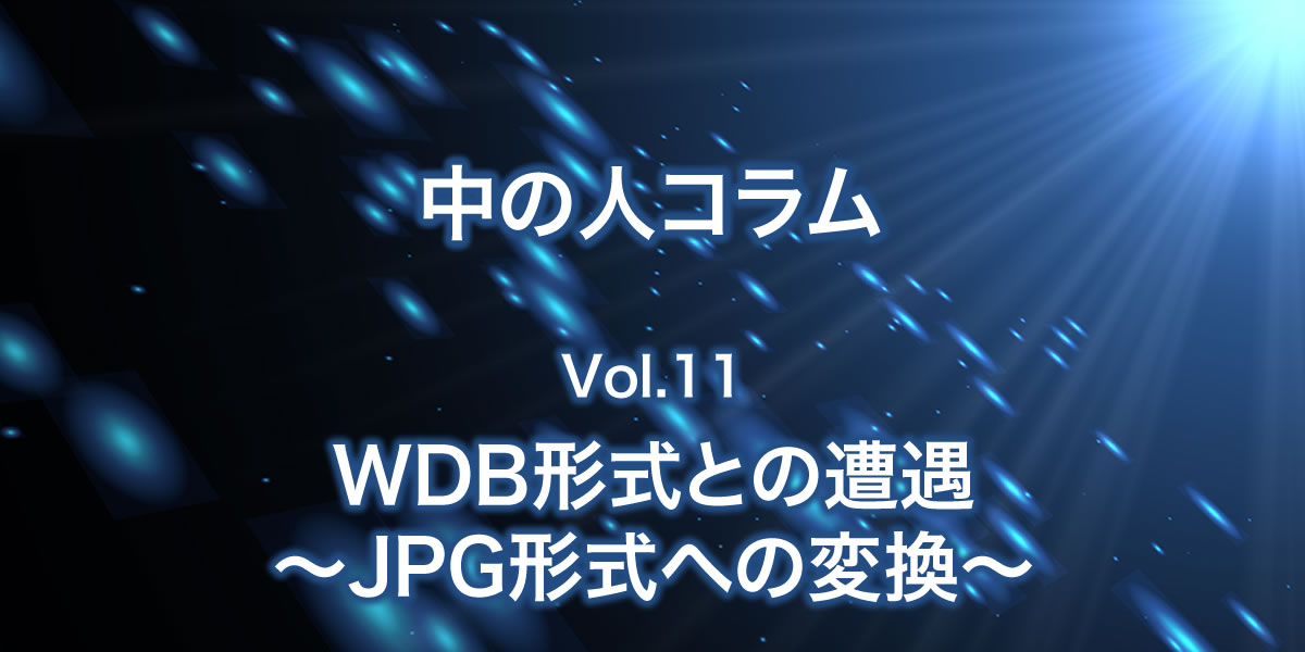 WDB形式との遭遇~JPG形式への変換~